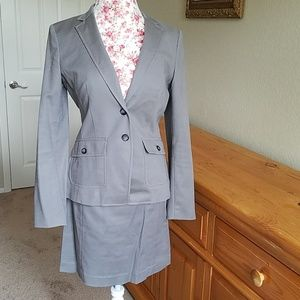 Banana tailored grey suit, size 10